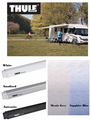 Thule Omnistor 4900 Campervan Awning, wall-monuted campervan canopy - White, Anodised & Antracite - Grasshopper Leisure